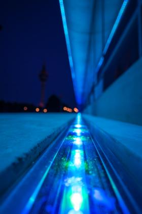 Lichtinstallation FRAME in Bremerhaven