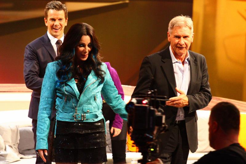 """Cher, Harrison Ford und Markus Lanz bei """"Wetten, dass..?"""" in Bremen"""